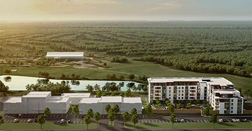 Vue aérienne du projet Cloria Vallée du Richelieu